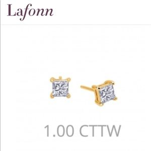 Lafonn 1 CT princess cut earrings